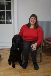 Lyndall and guide dog Croft